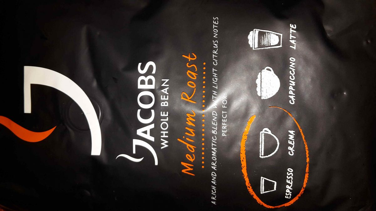 Jacobs whole bean – medium roast